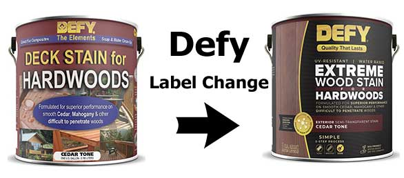 DEfy Hardwood Label Change