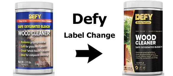 Defy Deck Cleaner Label Change