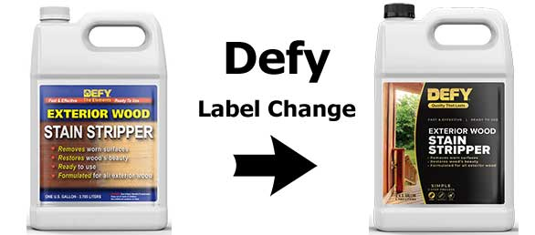 Defy Stain Stripper Label Change