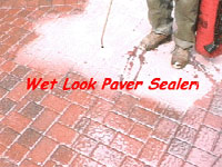 How To Strip A Failed Brick Paver Sealer That Has Turned White - Behr wet look paver sealer
