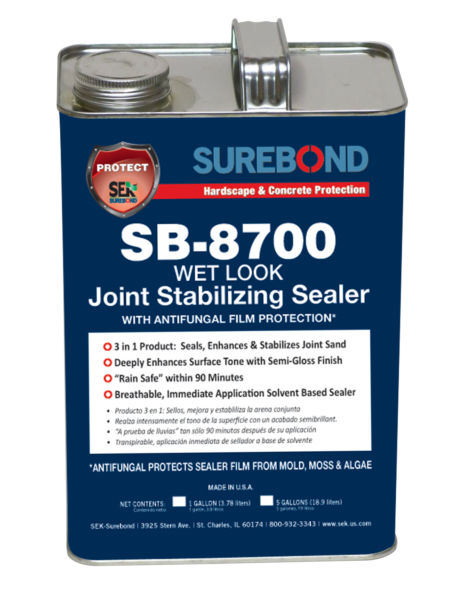 SB-8700  Wet Look/Gloss Sealer 1 Gallon