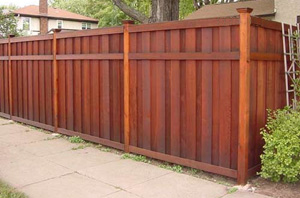 wood fence-stain