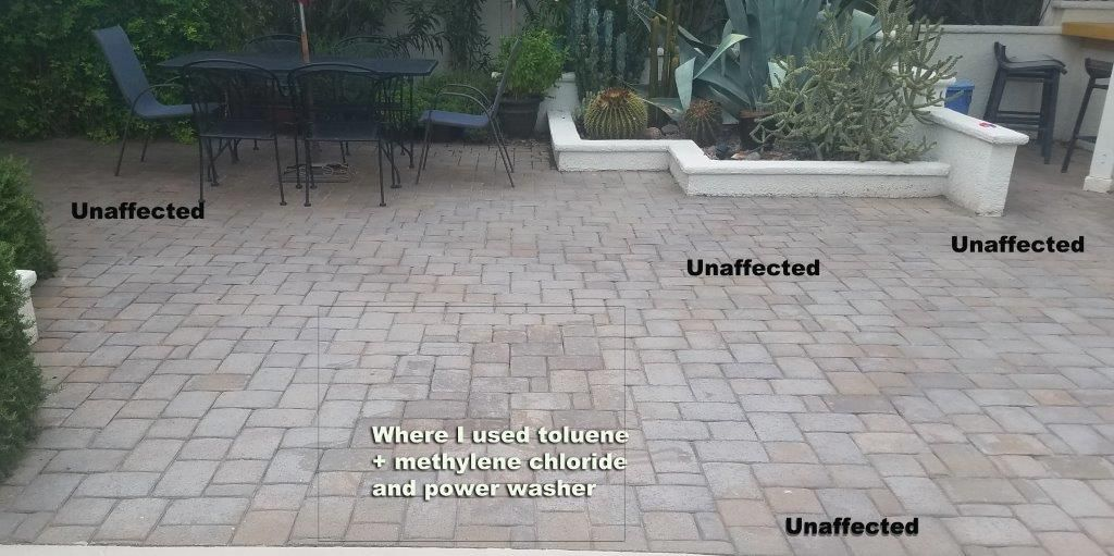 How To Strip a Failed Brick Paver Sealer That Has Turned